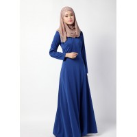 WS0121D Muslim Women's Plain Color Baju Kurung