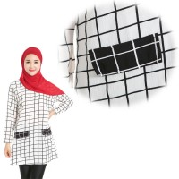 WS0125D New Plaid Long-Sleeved Muslim Shirt