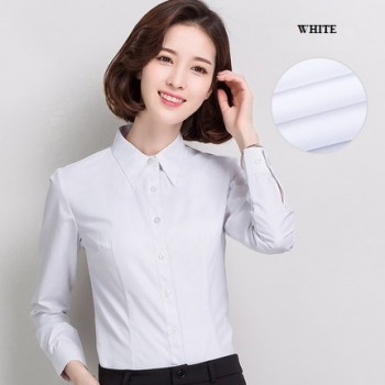 WS0169 Long-Sleeved Korean Slim Professional Lapel Collar Dress
