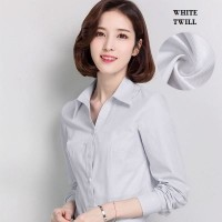 WS0170 Long-Sleeved Korean Slim Professional V-Collar Dress