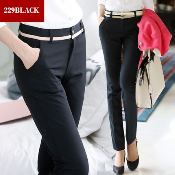 WS0174 New Korean Version of the Slim OL Professional Pants
