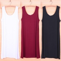 WS0179 New Spring and Summer Sleeveless Vest Sling Dress