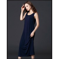 WS0185 Summer New Sleeveless Vest Slim temperament dress