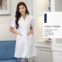 WS0187 White Coat Nurse/Service/Beauty Work Clothes