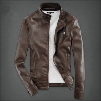 MS0043D Autumn Korean Slim Men's PU Leather Motorcycle Jacket